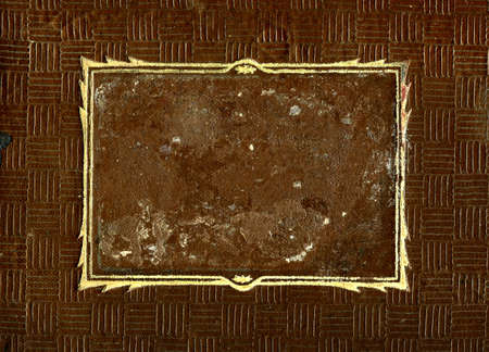Old and Vintage Brown Surface with a Frame for Photo or Text Stock Photo - 19021033
