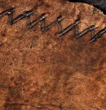 Texture of the Brown Leather with seam Stock Photo - 19021030