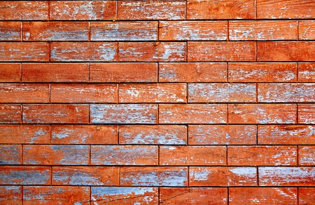 Old Wooden brick form Texture with old paint Stock Photo - 21853884
