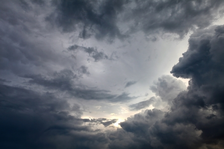 grey skies: Dramatic Cloudscape Area for Background