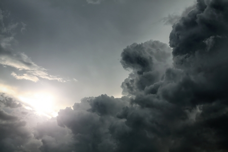 Dramatic Cloudscape Area with Ray of Light