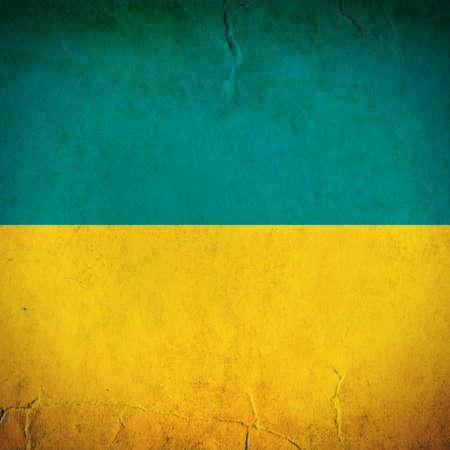 Vintage National flag of Ukraine photo