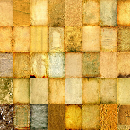 Variety of the Old Paper Textures photo