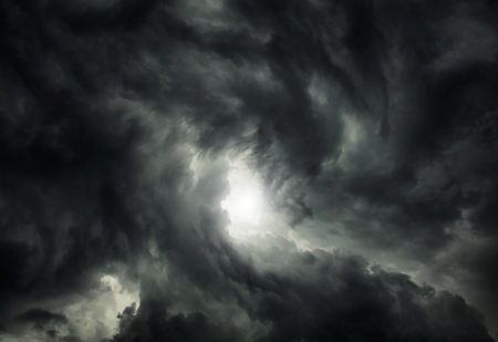 White Hole in the Whirlwind of the Dark Storm Clouds Фото со стока - 47346061