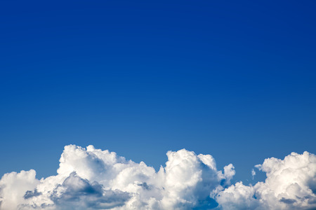 nebulosity: Background of Blue Sky with the Clouds Stock Photo