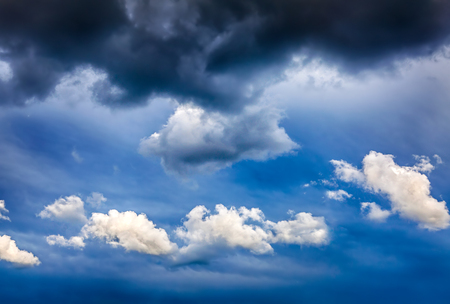 Dramatic Cloudscape Background with Blue Sky