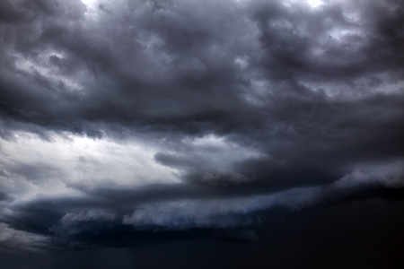 Dark and Dramatic Storm Clouds Area Background
