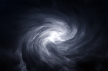 Blurred Swirl in the Dark Storm Clouds 스톡 콘텐츠