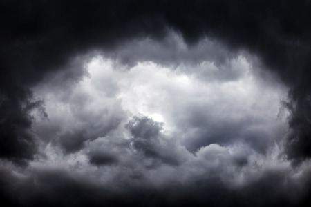 Dark and Dramatic Storm Clouds Area Background Stock Photo