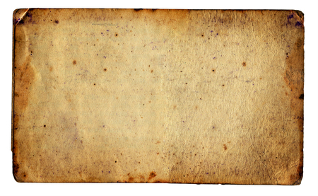Vintage Paper Isolated on The White Background