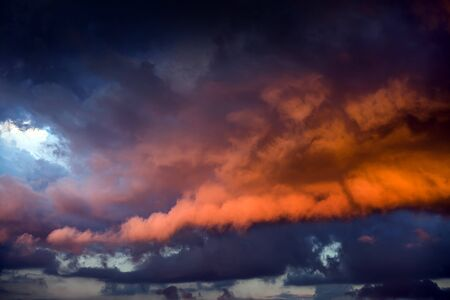 Natural Red Dramatic Clouds Area Background Stock Photo
