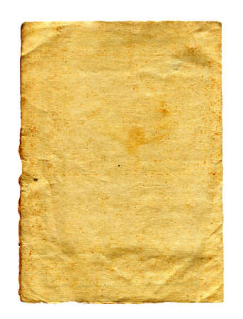 Old Paper Isolated on The White Background 版權商用圖片