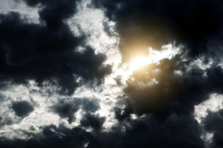 Light in the Dark and Dramatic Storm Clouds 版權商用圖片