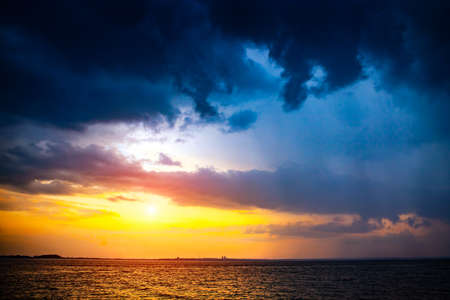 Evening Summer Landscape of the Sea and Sunset