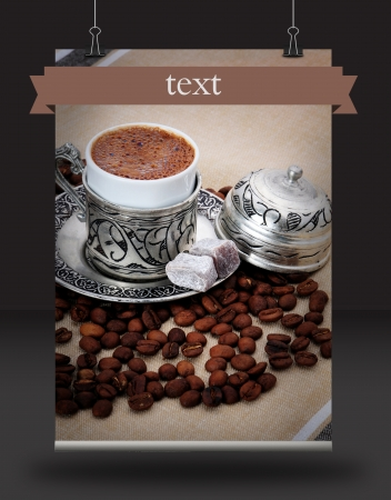 Turkish coffee poster photo
