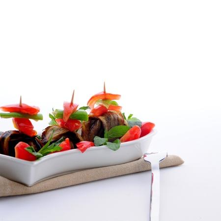 melanzane stuzzicadenti carne arrostita