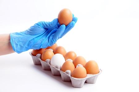 infective: huevos opini�n Foto de archivo
