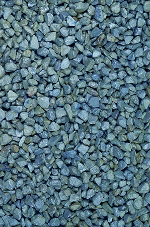 gravelly: close up of blue pebbles, macro, full frame, vertical,  full frame Stock Photo