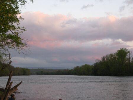 Sunset op een meer