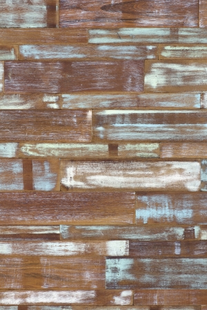 detail of abstract art color wood wall white blue green Imagens
