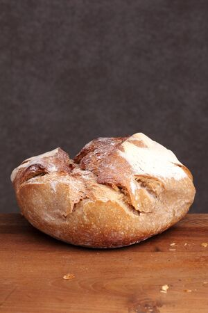 teakwood: sour dough bread fresh  bakery on teakwood table