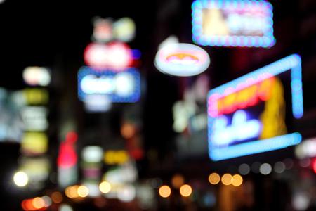 blur neon light nightlife bangkok city thailand