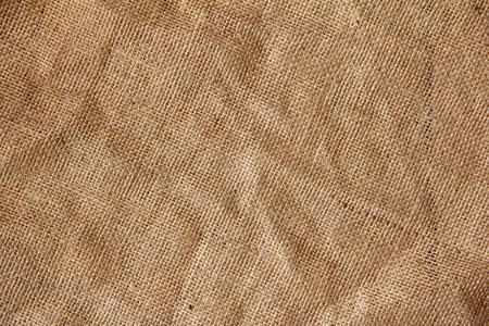 frayed: Burlap hessian with frayed edges on white background