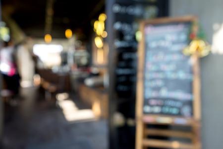 shop window: Blur front window coffee shop vintage restaurant