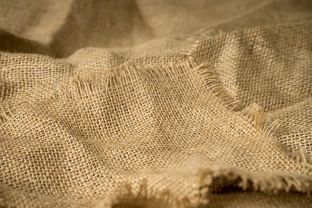 frayed: texture of burlap material background hessian with frayed edges Stock Photo