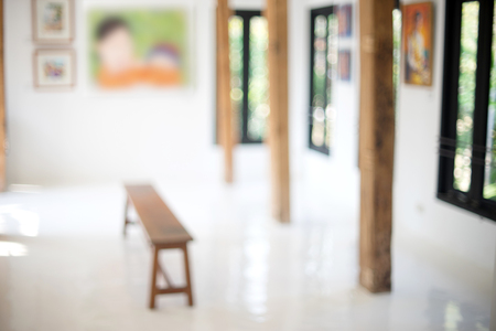 exhibition display: blur white room art gallery exhibition display