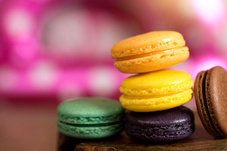 colorful of macaron sweet food biscuit candy