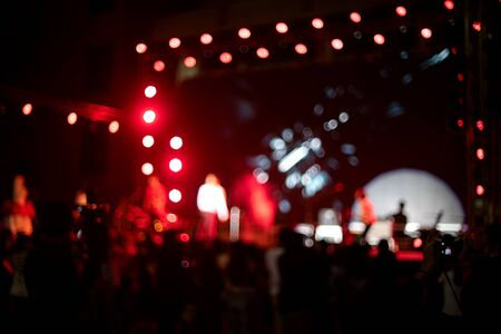 Blur image of light on music concert stage