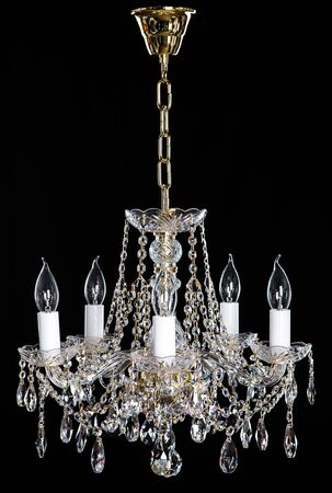 strass: Elegance crystal strass chandelier with eight lamps.