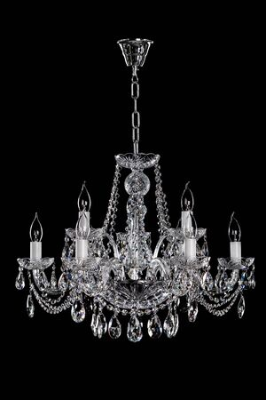 Crystal strass lamp on the black background.