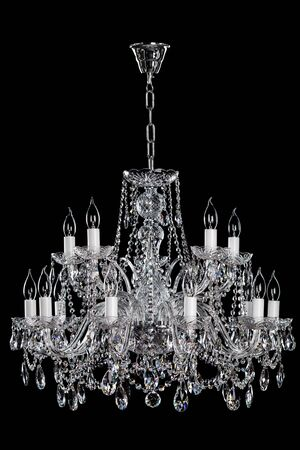 electric fixture: Magnificent lamp on the dark background.