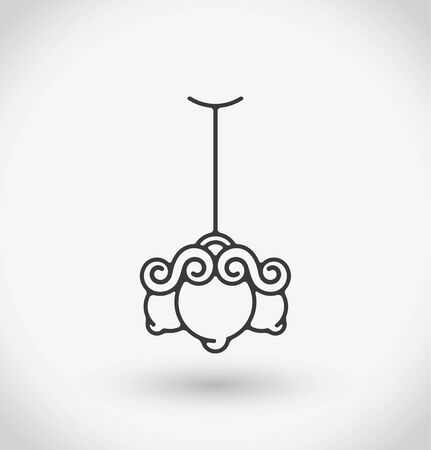 Chandelier Icon on white background. Illustration