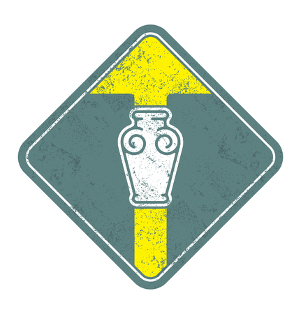 Classical vintage vase vector icon. Illustration