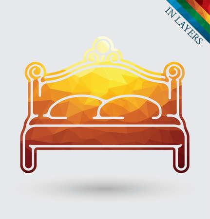 Classic royal bench vector