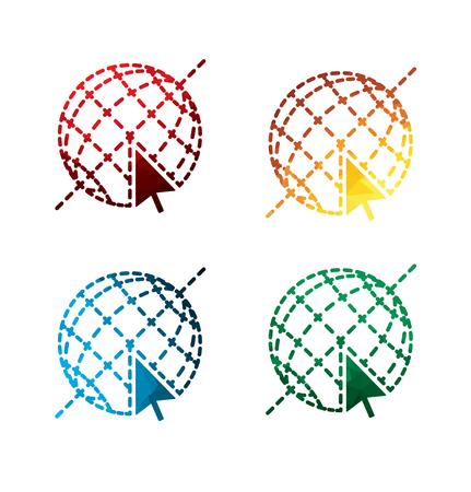 Graphic Internet icons on white background. isolated Internet icons. eps8. Illustration