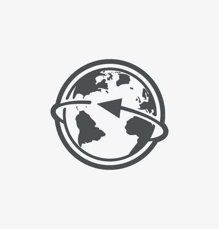 Simple earth icon on white background. Simple earth icon. eps8.