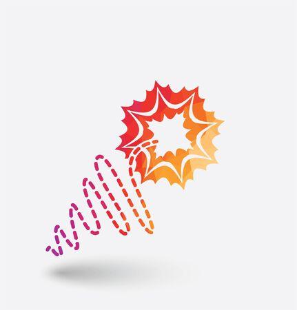 Colored fuse icon on white background. Illustration