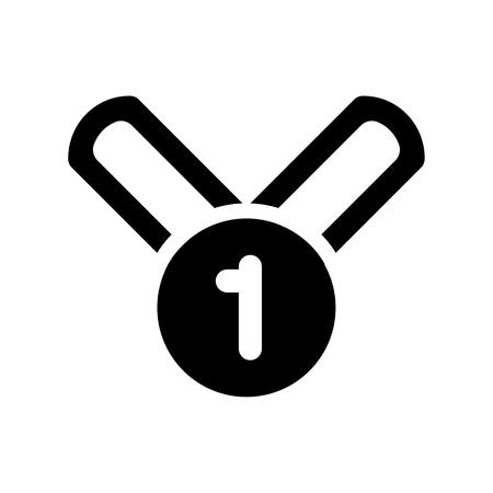 Champion Medal Vector icon. Outline medal designe.