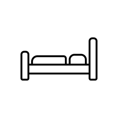 modern house: The bed icon. Hotel symbol. Flat Vector illustration