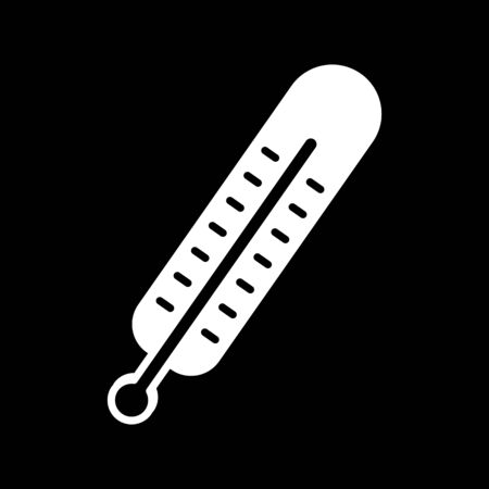 solid: thermometer. Vector icon
