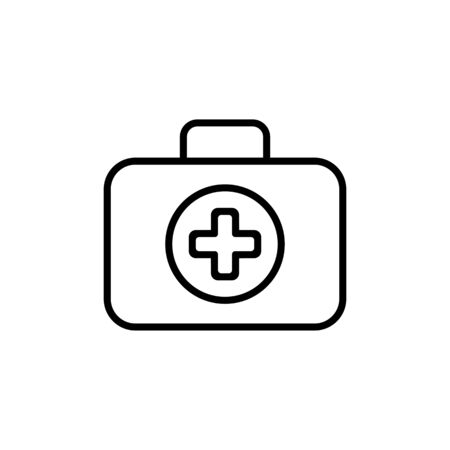 firstaid: First Aid Kit Symbol and Medical Services Icon. Flat Design. Isolated.