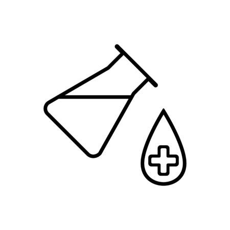 Lab icon. Vector illustration isolated on white background. Medical substance symbol.