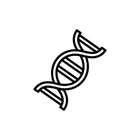 DNK vector icon. Flat design on white background. Illustration