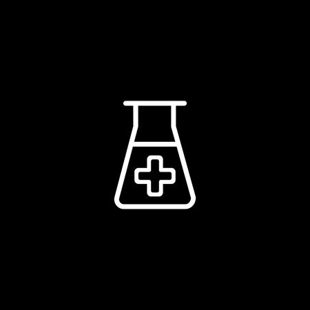 lab icon. vector illustration isolated on black background. Medical substance symbol.