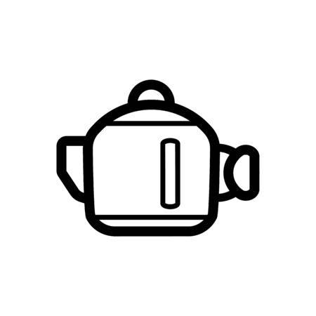 electric tea kettle: Kettle vector Icon. Isolated on white background