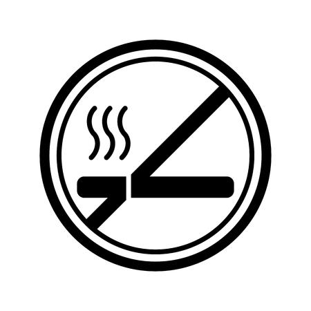 pernicious habit: No smoking sign vector. Line style Illustration